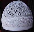 White Fabric Cap