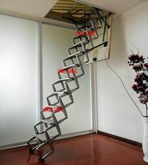 南京高檔家用半自動鋁合金伸縮樓梯