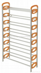 8 layer shoe tower rack,50 pair metal shoe stand,plastic shoe rack