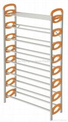 8 layer shoe tower rack,50 pair metal shoe stand,plastic shoe rack