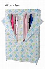 foldable fabric wardrobe (with six legs)