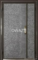 Cast aluminum door