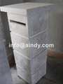 blue limestone mailbox
