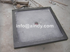blue limestone square wash basin