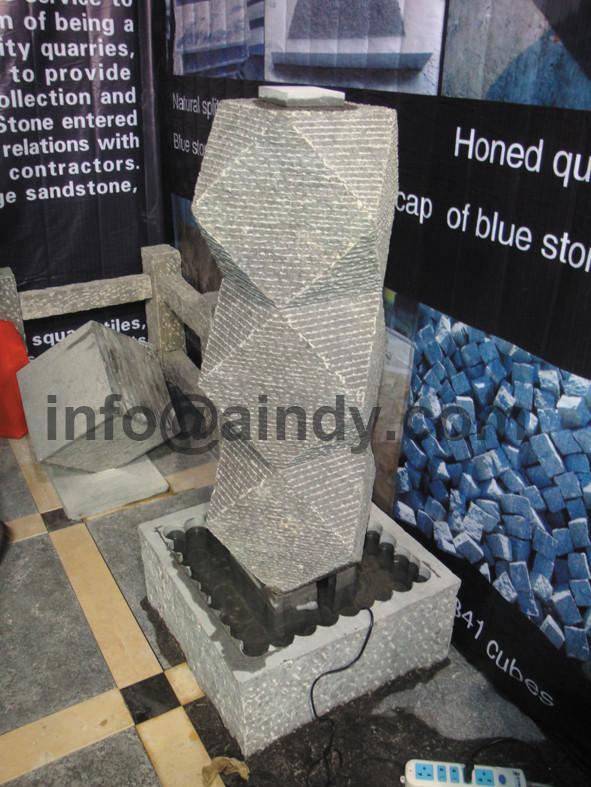 Natural blue limestone garden water fountain 2