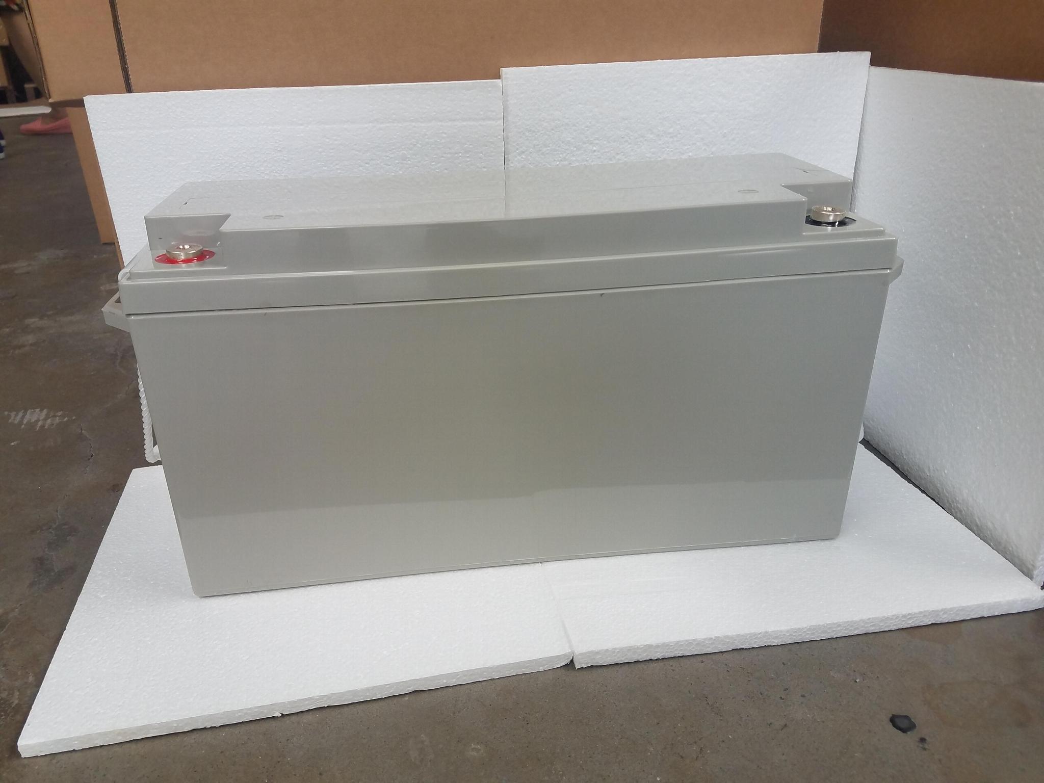 蓄电池工厂 12V150AH 免维护铅酸电瓶 太阳能储能足容量电池 1