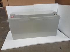 蓄电池工厂 12V150AH 免维护铅酸电瓶 太阳能储能足容量电池