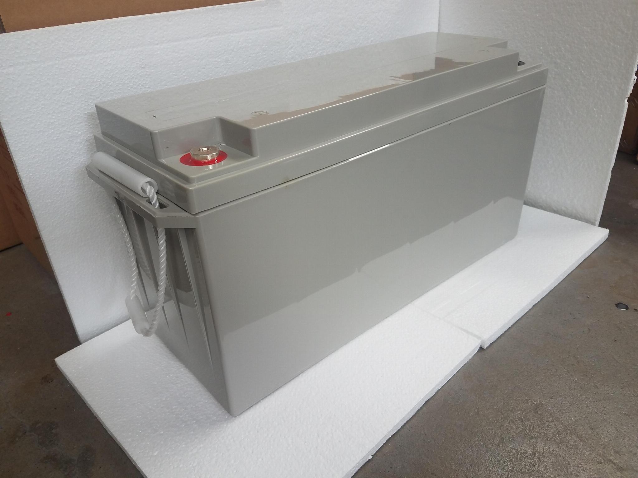 蓄電池工廠 12V150AH 免維護鉛酸電瓶 太陽能儲能足容量電池 2