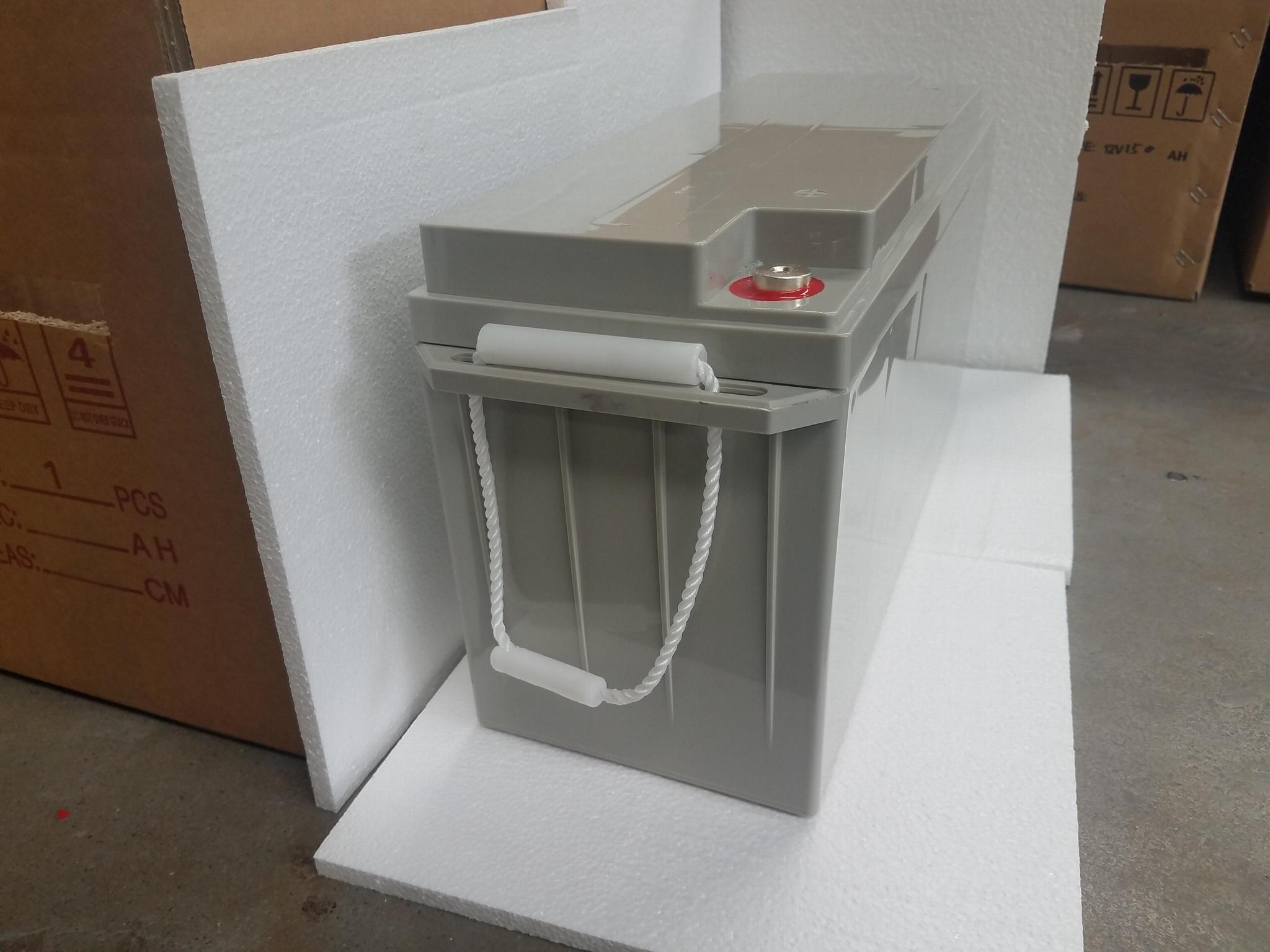 蓄电池工厂 12V150AH 免维护铅酸电瓶 太阳能储能足容量电池 4