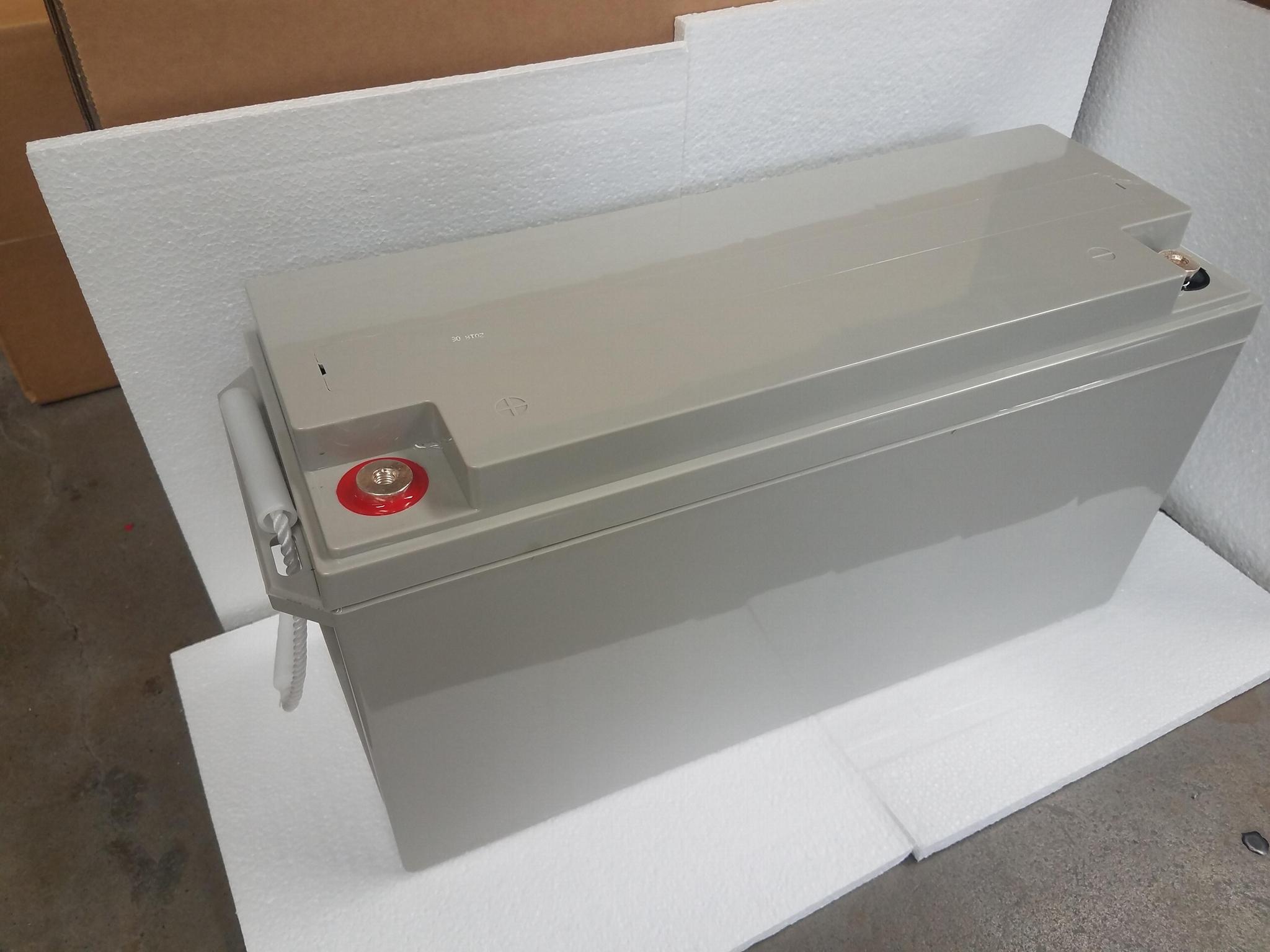 蓄电池工厂 12V150AH 免维护铅酸电瓶 太阳能储能足容量电池 5