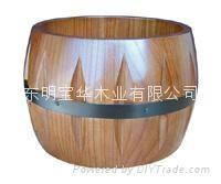 长期大量供应各种高质量防腐木花盆