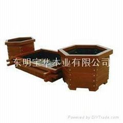 厂家供应各种高质量木制花盆