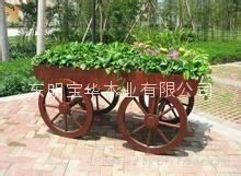 长期大量供应各种高质量防腐木花车