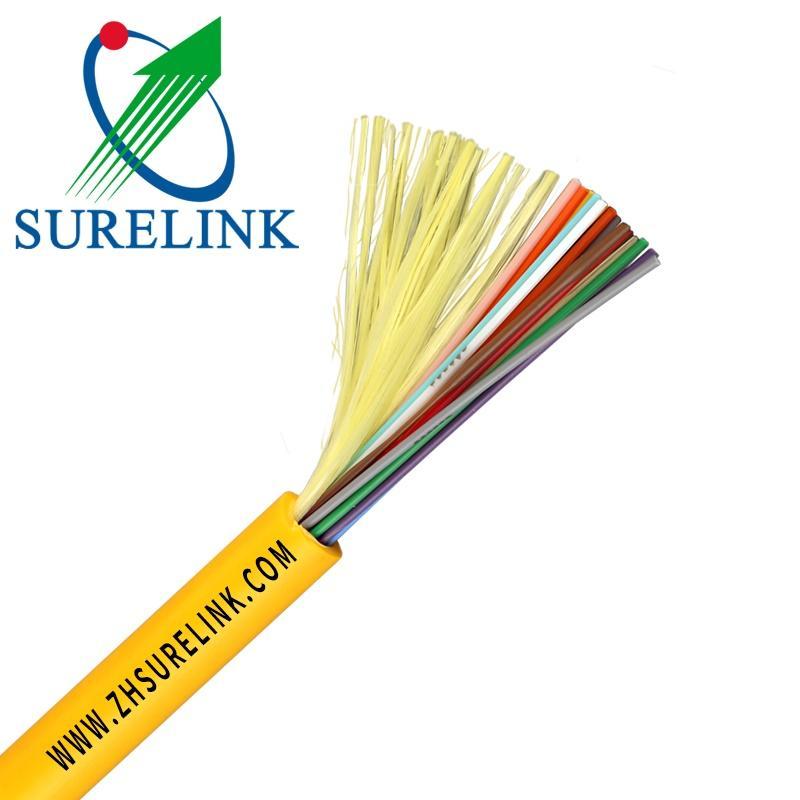 Indoor Fiber Cable Tight Buffer 4 Multi Core Single Mode Fiber Optic Cable GJFJV 1