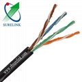 Waterproof Outdoor Gel Filled or Jelly Filled UTP Cat5e LAN Cable