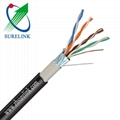 Double Jacket Outdoor FTP Cat5e Cable External FTP Cat5e