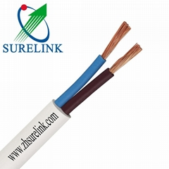 2Core PVC Electric Cable Sheathed Copper Wire Conductor Flexible Cable Rvv