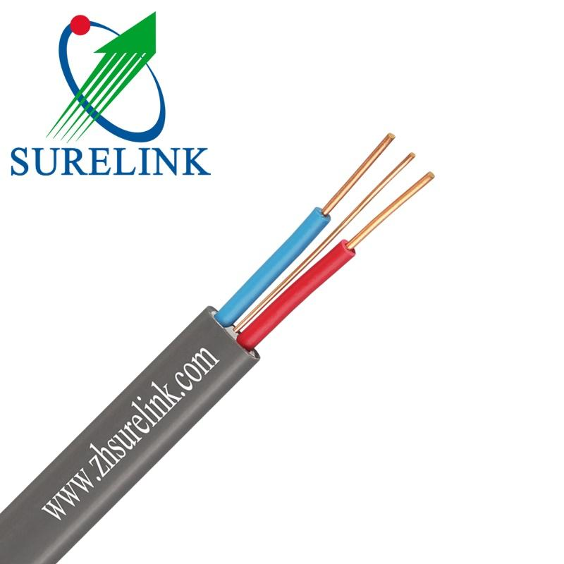 3 Core PVC Flexible Insulation BVVB Power Cable Sheath Electrical Copper Wires