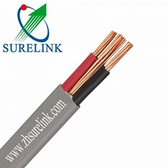 3 Cores PVC Sheathed Flexible Copper Conductor Flat Twin Cable with Earth Cable