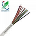 Flexible Unshielded Copper PVC Jacket 4 Core 24AWG Security Alarm Cable