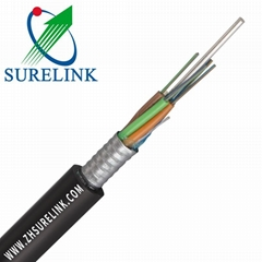 Outdoor Steel Tape Armoured Optical Fiber Cable GYTS