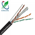Outdoor Aerial Cable FTP Cat5e with Messenger FTP Cat5e/M
