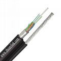 Outdoor self supporting Armored Single Mode Multicore Fiber Optic Cable Gyxtc8s