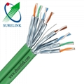 4pairs 23AWG double screen Ethernet Cable LAN Cable FFTP SFTP SSTP Cat6A Cat7