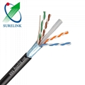 Outdoor Bare copper or CCA Double Jacket Network Cable FTP CAT6 UTP CAT6