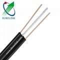 3 Core Shielded Copper Outdoor Steel Ss Drop Wire Telephone Cable