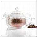 glass double wall teapot 2