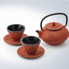 cast iron tea set