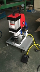 portable grommet attaching machine for