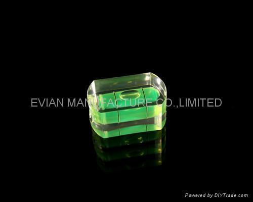Acrylic Block Bubble Level Vial 1