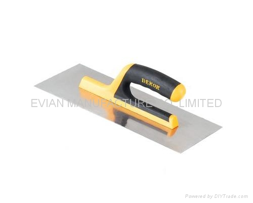Plastering Trowel with Rubber Handle