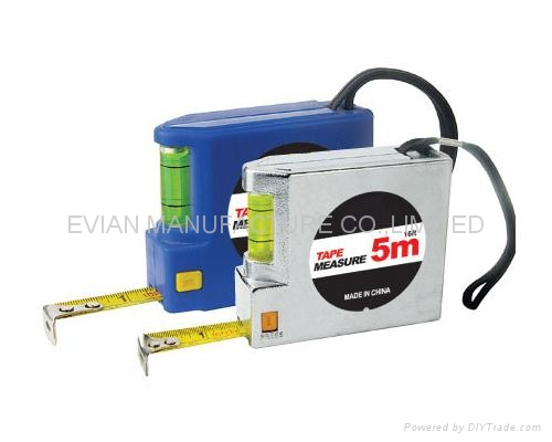 Steel Tape Measure with Spirit Level