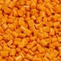 塑料色母粒 彩色母定制 鲜橙黄色母粒
