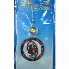 Mobile Phone Lanyard with Soccer Team Emblem and Inductor
