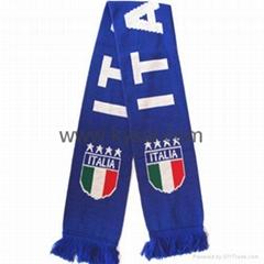 Knitting Scarf/Football Scarf/Soccer Scarf-Italy