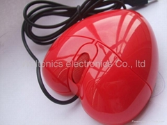 Heart shaped optical mouse
