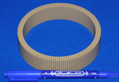 composite high-frequency broadband cylindrical transducer