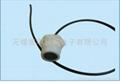 Liquid-plastic flow-metering transducer