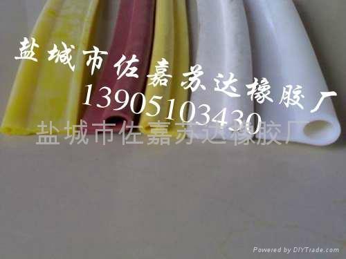 p型烘箱耐高温硅胶发泡密封条 4