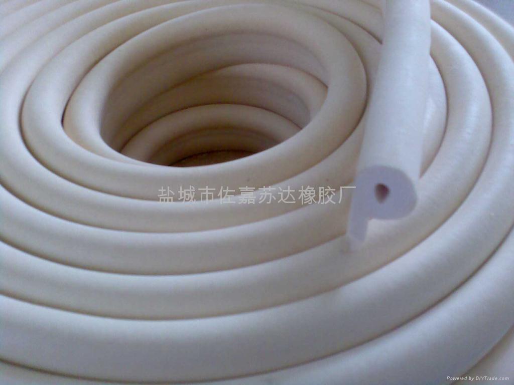 p型烘箱耐高溫硅膠發泡密封條 5