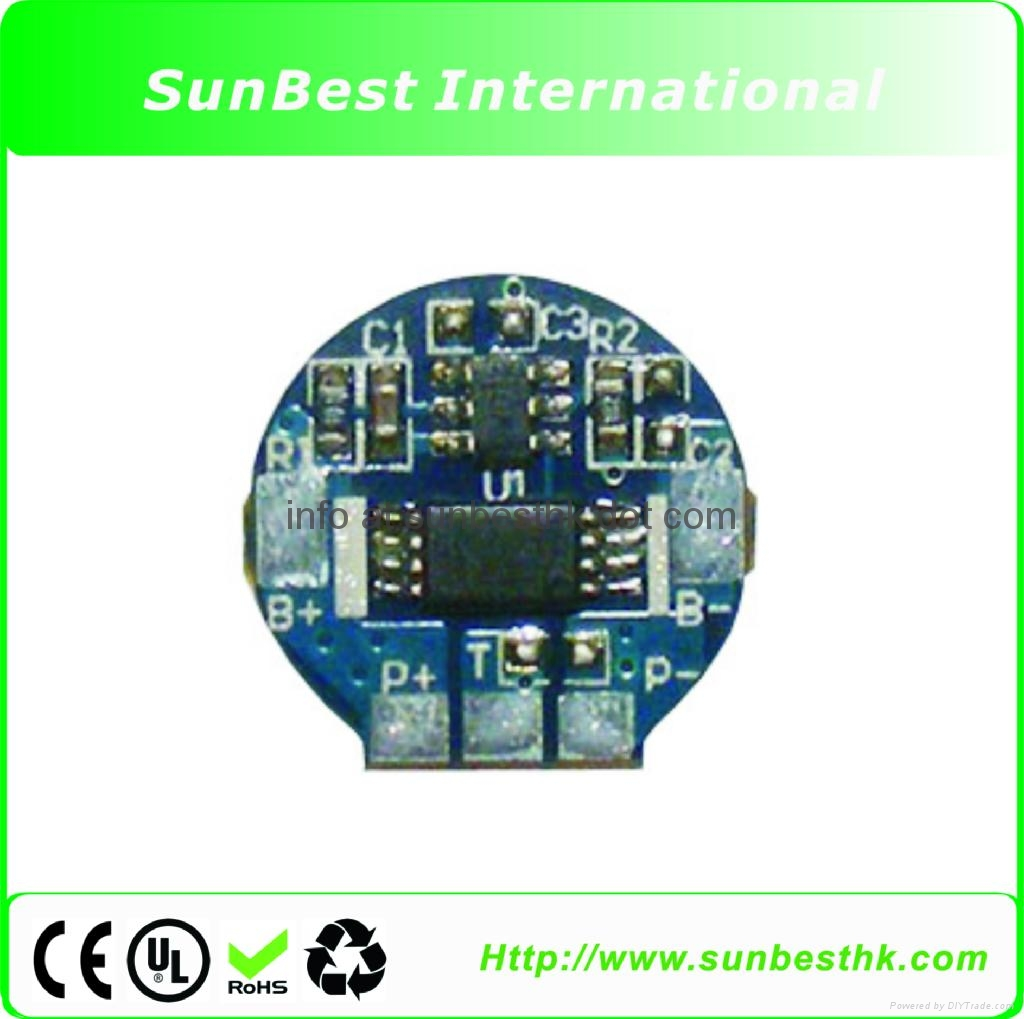 Protection Circuit Module (PCB) for 3.7V Li-ion (18650/18500) cell Battery (2.0A