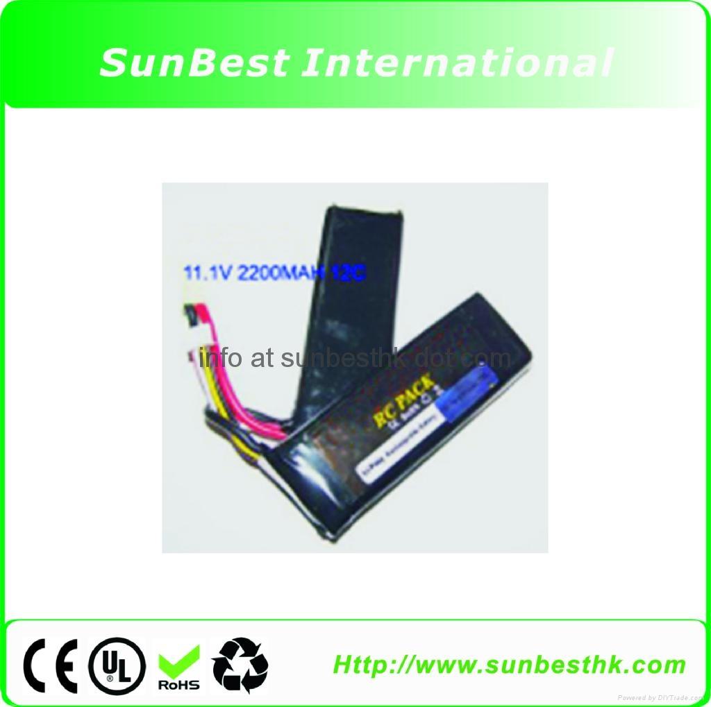 Polymer-Li-Ion-Rechargeable-Battery-11.1V-2200mAh-12C-For- BB-Gun