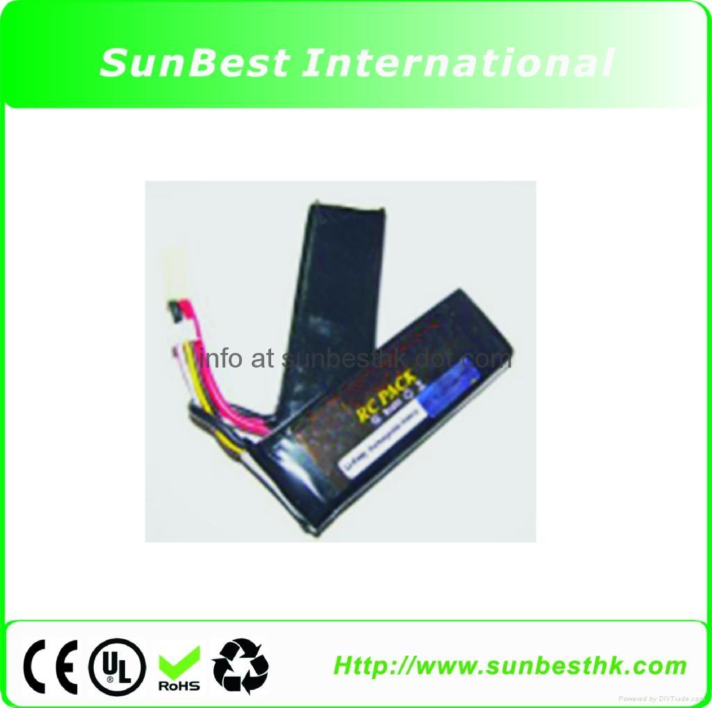 Polymer Li Ion Rechargeable Battery 11.1V 1800mAh For BB Gun
