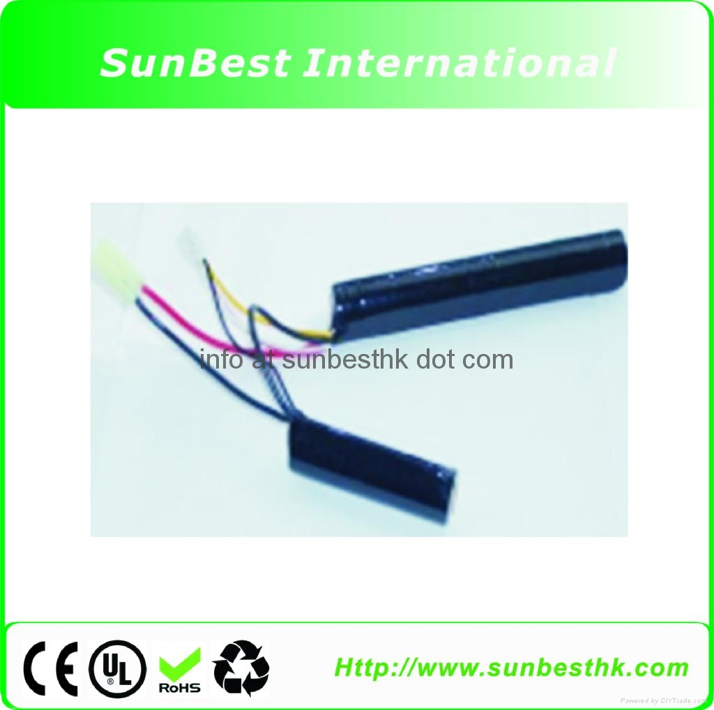 Polymer Li Ion Rechargeable Battery 11.1V 1300mAh 12C For BB Gun