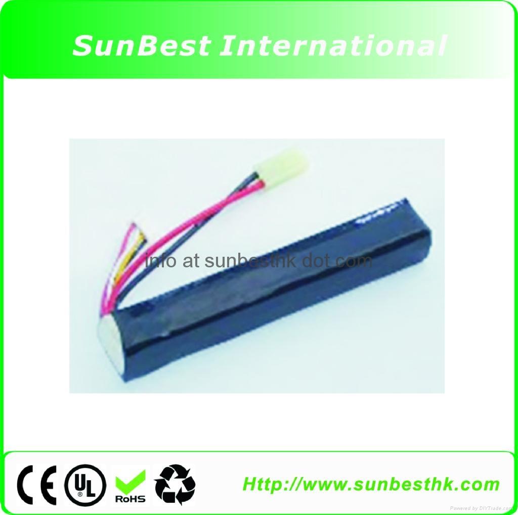 Polymer-Li-Ion-Rechargeable-Battery-11.1V-1200mAh-15C-For-BB-Gun