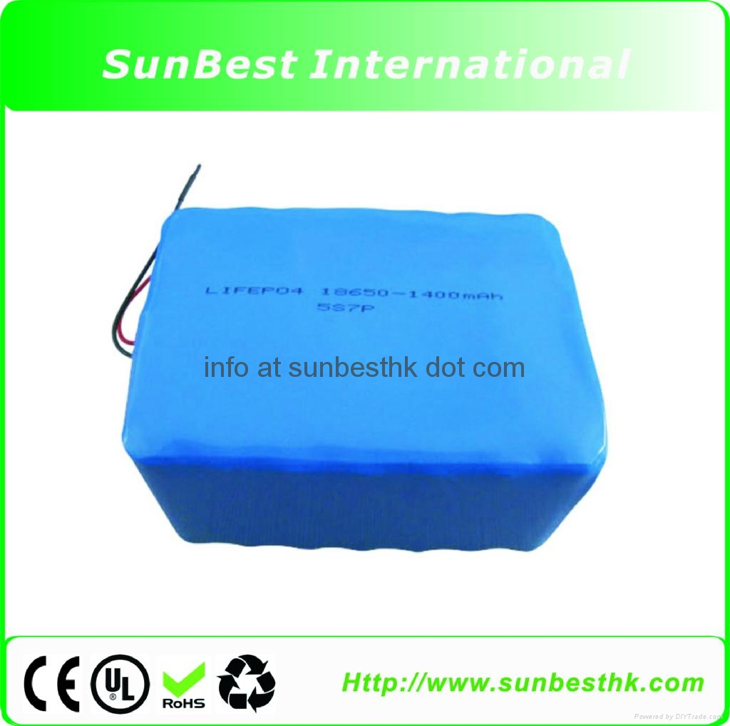 LiFePO4 18650 9.8Ah 16V Rechargeable Battery Pack